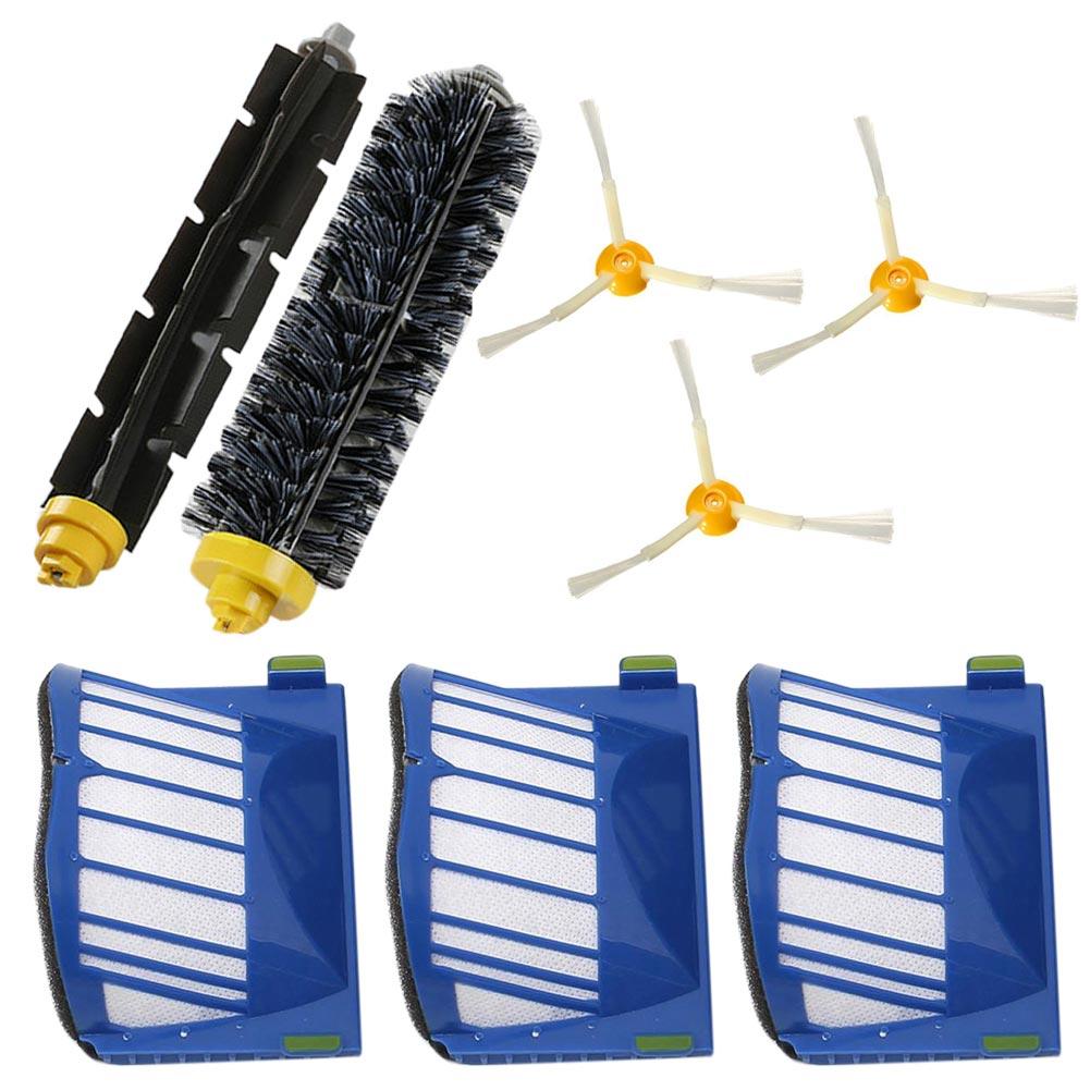 Beater Bristle Brush Filter 3 Armed Side Brush Set Series for 620 630 650