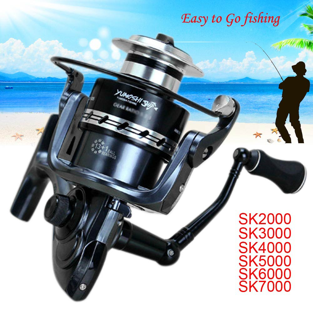 14BB Ball Bearing Metal Saltwater/Freshwater Fishing Spinning Reel SKSeries