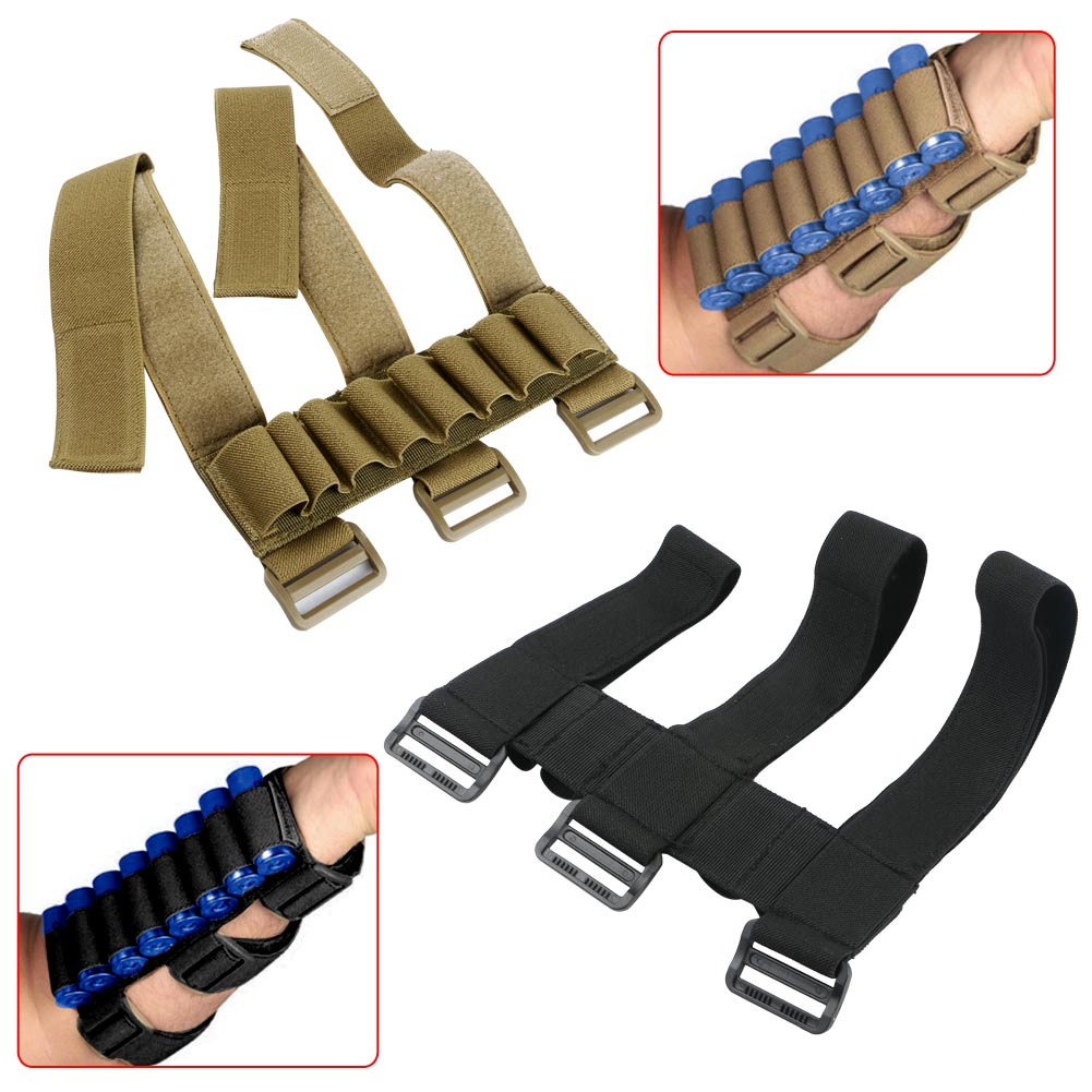 Military Shotgun Shell Holder Forearm Carrier Shooter Sleeve Mag Pouch