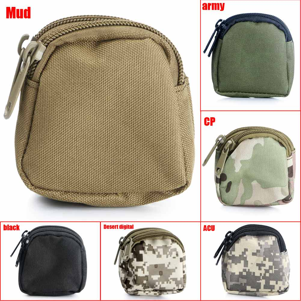 Mini Pocket Waterproof Portable 2-Layer Coin Wallet Zipper Bag Pouch