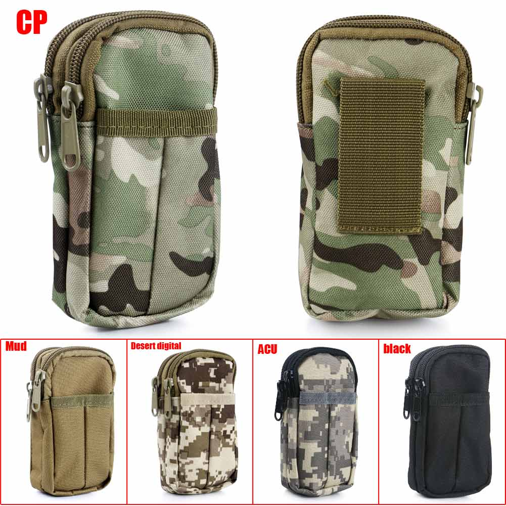Mini Outdoor Waterproof Military Tactical Camping Hanging Waist Bag Pouch