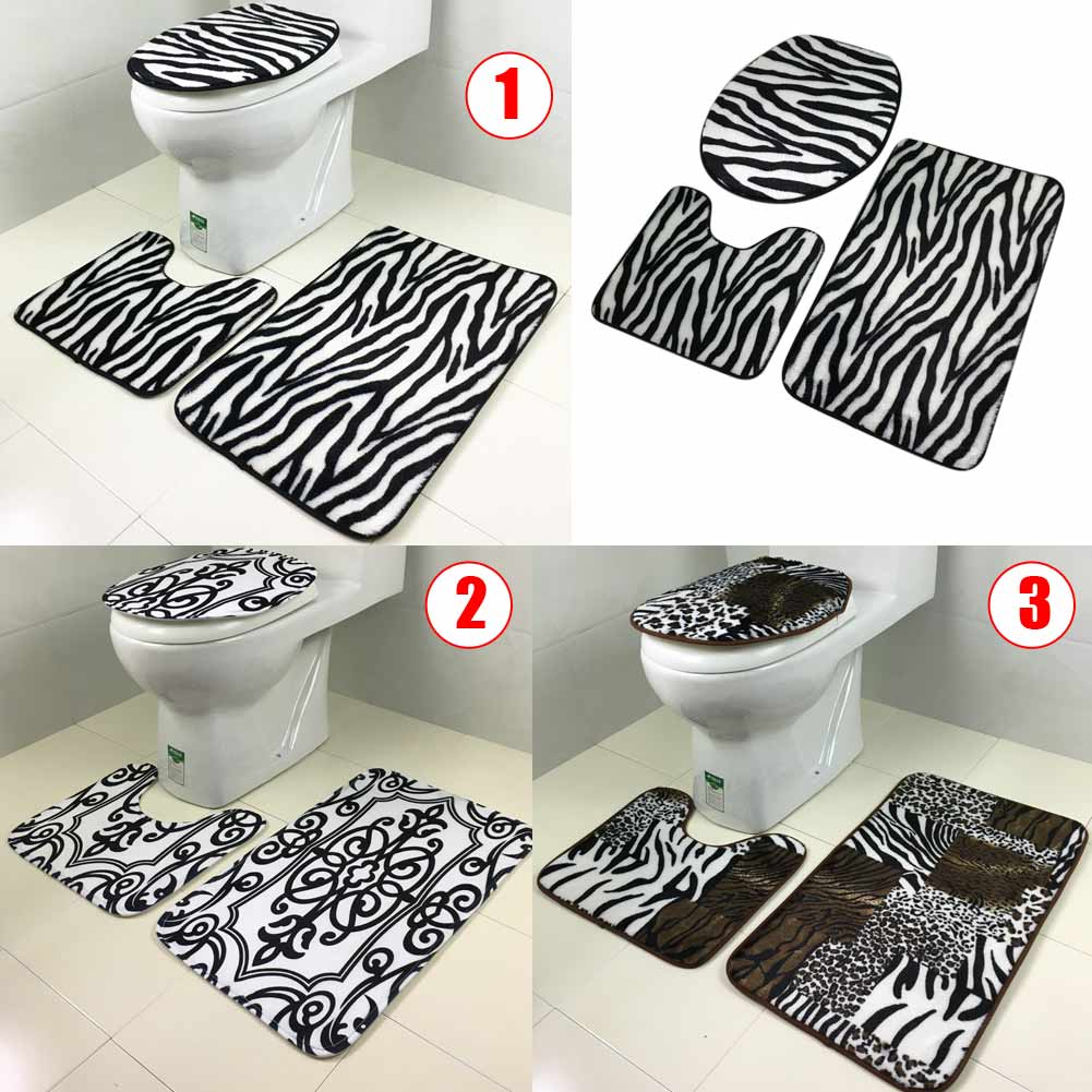 Super Details About 3Pcs Lid Toilet Seat Cover Pedestal Rug Bathroom Mat Carpet For Household Newest Pdpeps Interior Chair Design Pdpepsorg
