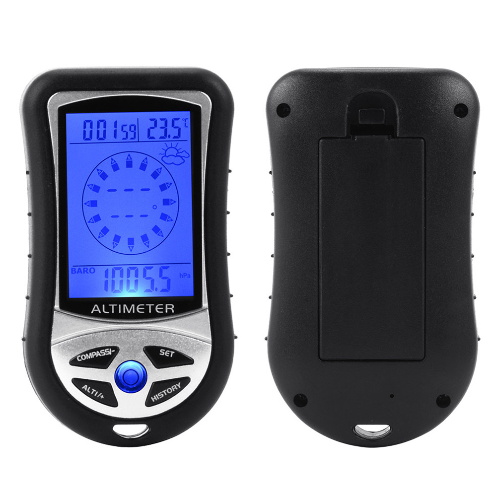 8in1 MultifunctionLCD Digital HandheldAltimeterBarometerCompass Thermometer