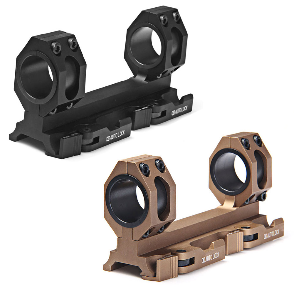 Tactical Rock-Solid 25.4mm 30mm Scope Ring QD Mount Base W/Auto Lock System