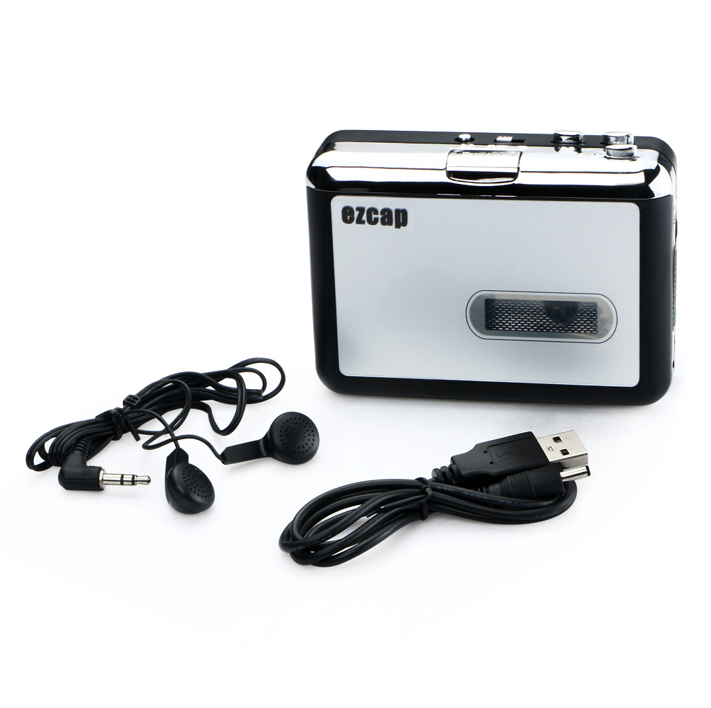 USB Portable Audio Cassette Tape Recorder to MP3 Capture Switcher Converter