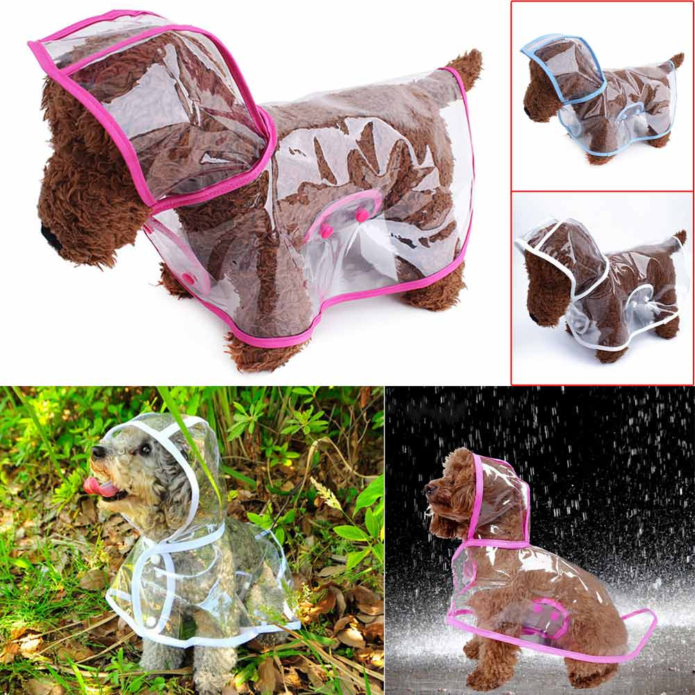 Waterproof Puppy Raincoat Transparent Pet Rainwear Cloth Dog Rain Poncho