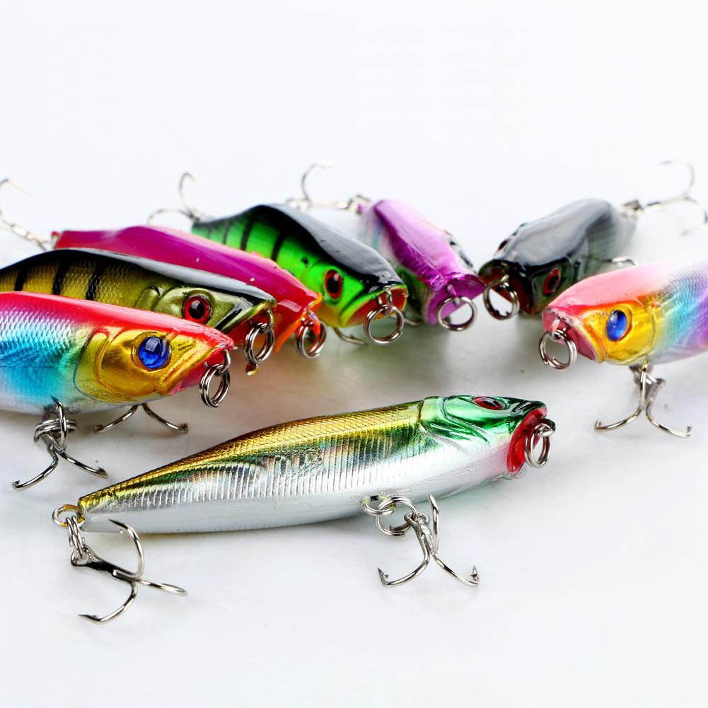 Lot 8pcs Plastic Fishing Lures Crank Bait Tackle Bass Hook 7cm 2.76″ Neo