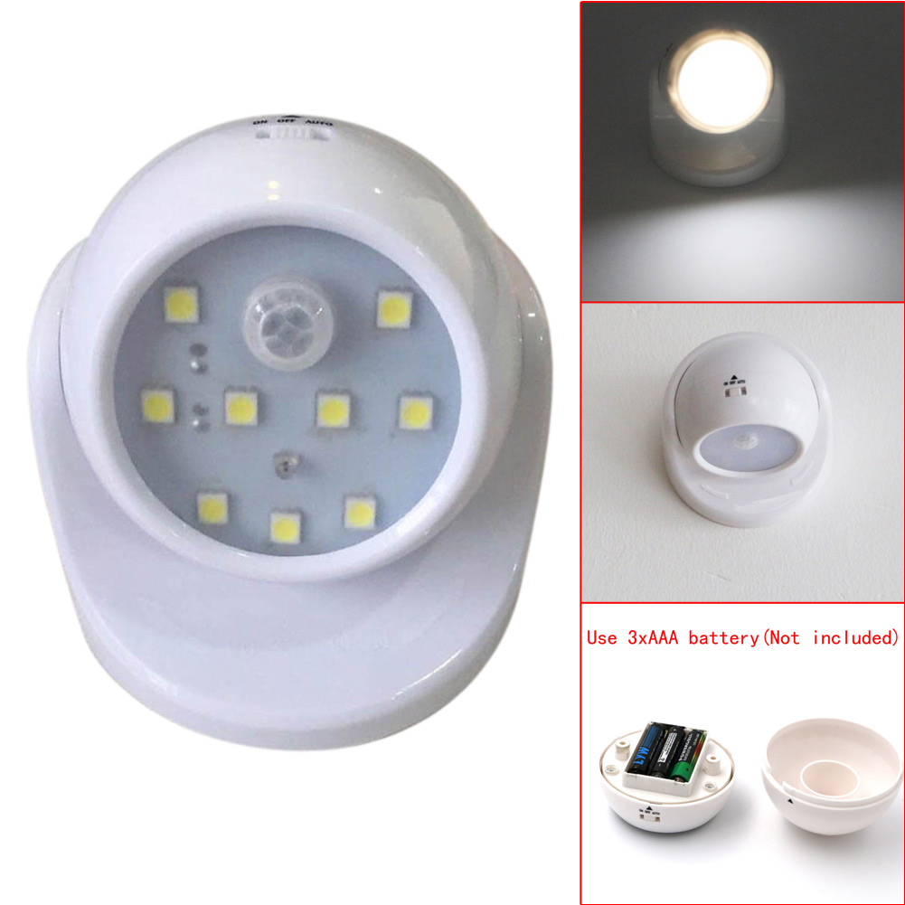 Cordless indoor outdoor motion sensor led light outdoor designs 360 rotatable wireless motion activated cordless sensor led light mozeypictures Image collections