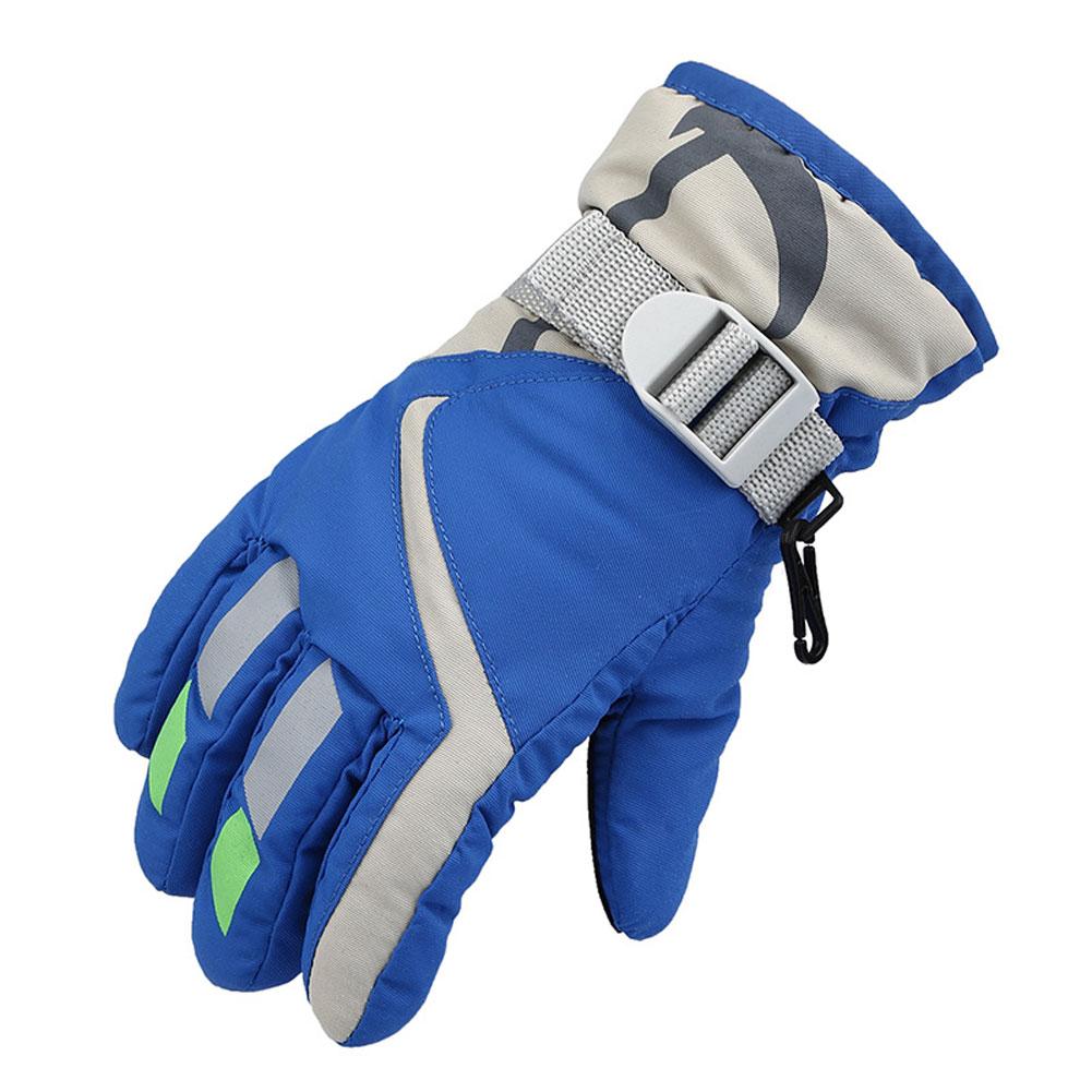 Children Winter Waterproof WarmKids Ski Snowboard Gloves W//Adjustable Strap New
