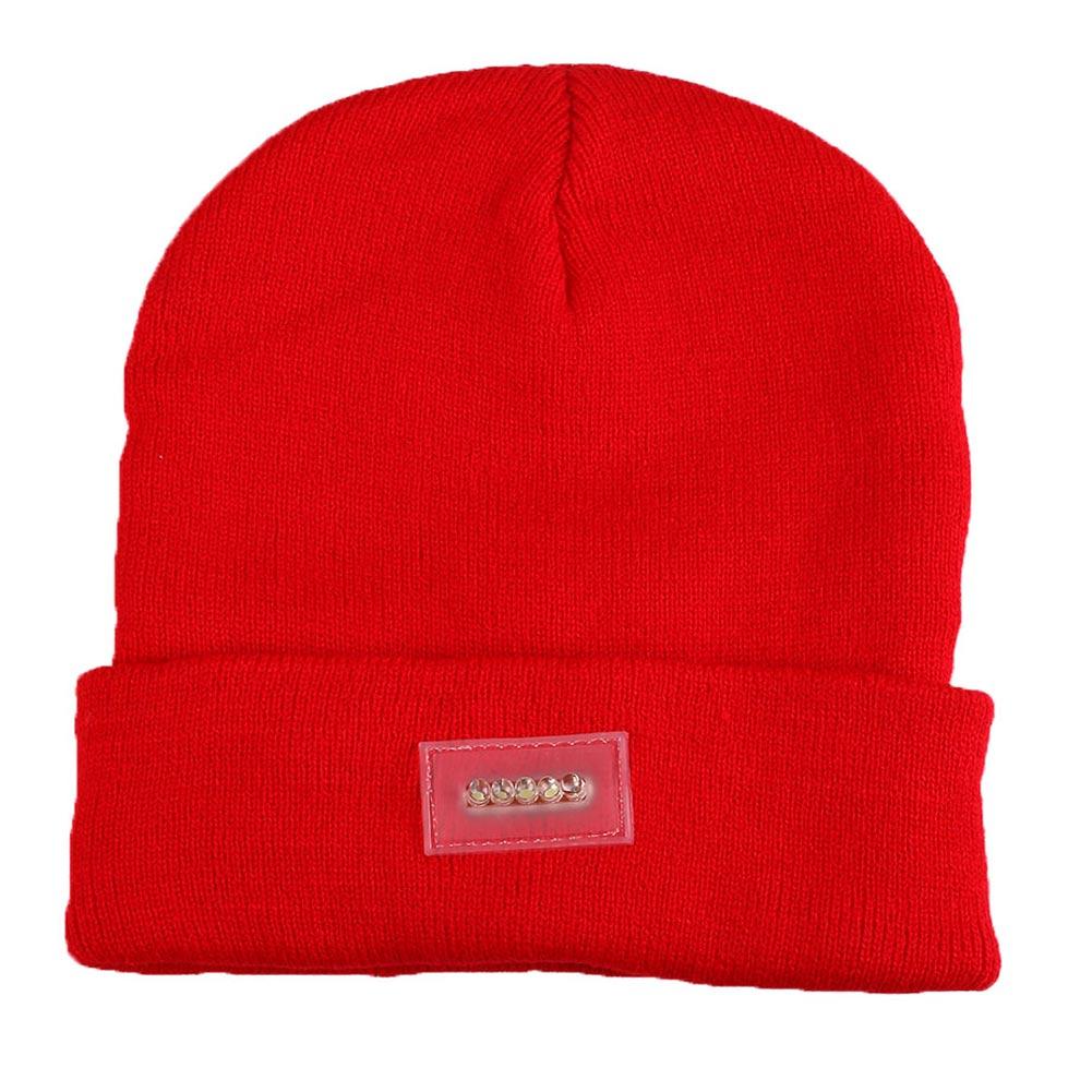 5LED Stricken Warme Hut-Hände Freie Taschenlampe Kappe für Nachtklettern Fischen
