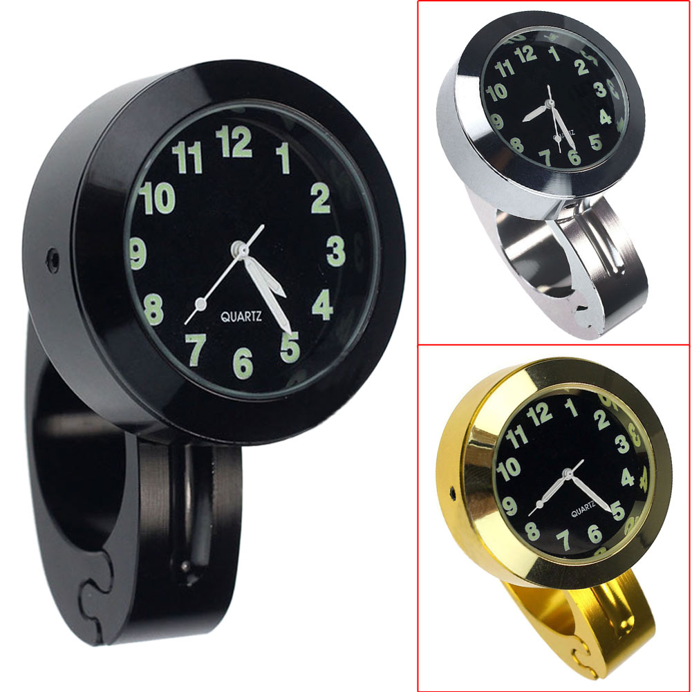 Wholesale Universal Motorbike Chrome Waterproof Handlebar Mount Watch Dial Clock