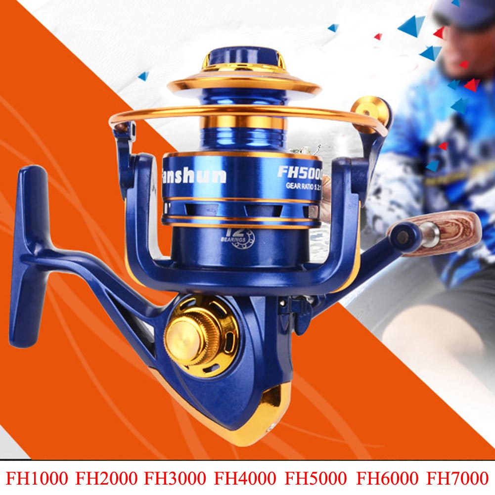 12+1Ball Bearing Bait Casting Spinning Saltwater Fishing Reel Wheel High Speed