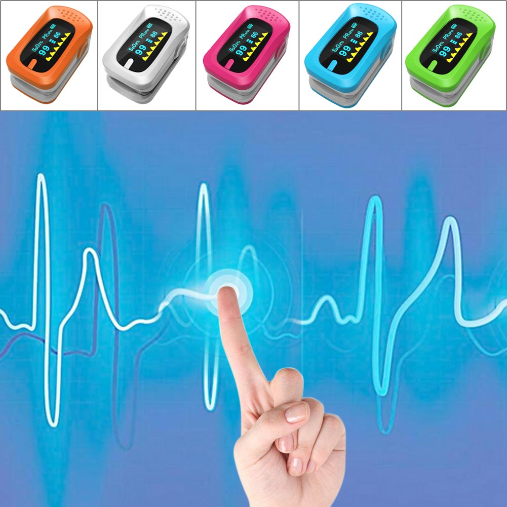Fingertip Pulse Oximeter Blood Oxygen Saturation Digital OLED Monitor