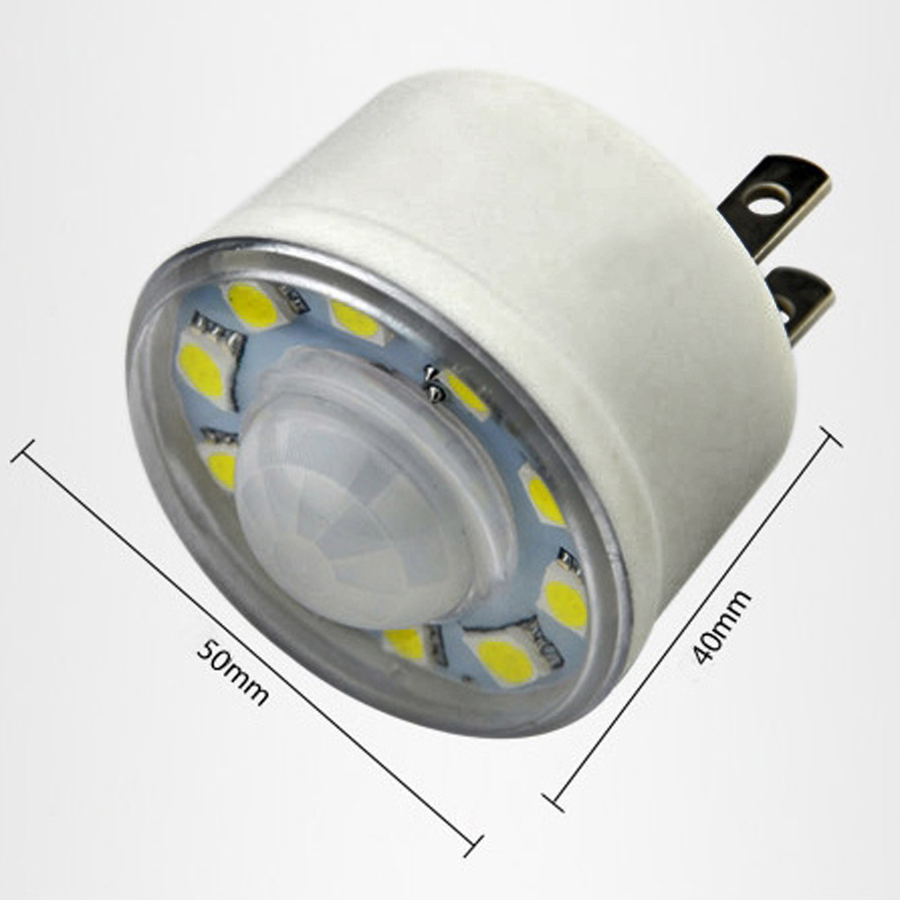 110°110V 3W Human Body Motion Sensor PIR Infrared LED Lamp