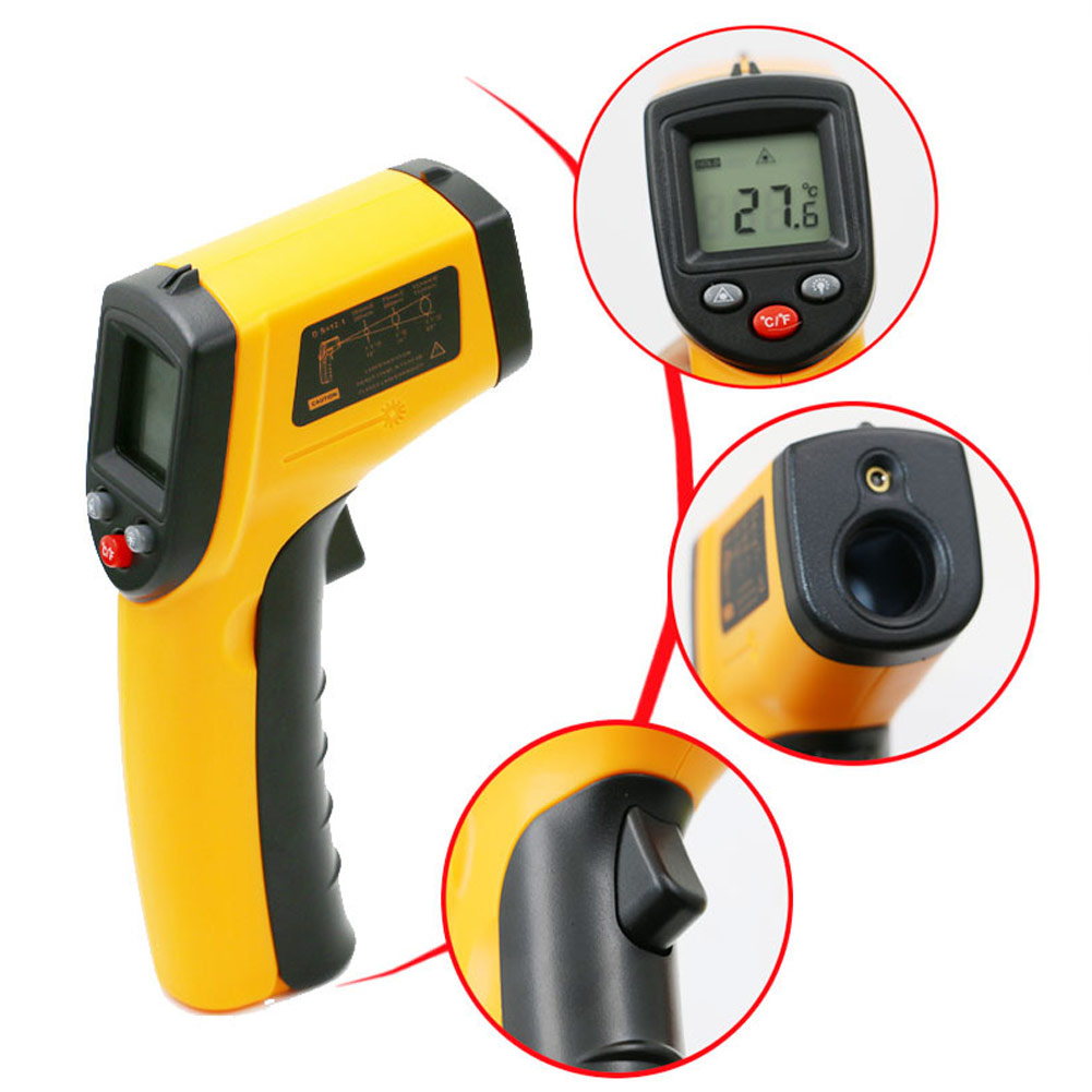 GM320 Handheld Digital Laser Infrared Thermometer Industry Temperature Gun