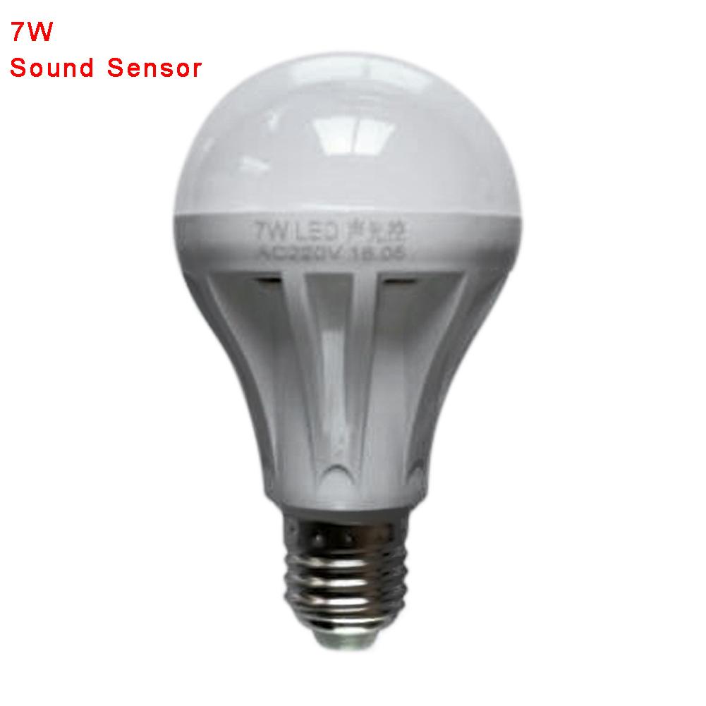 3W/5W/7W/9W LED Sound PIR Motion Sensor Ball Light Globe