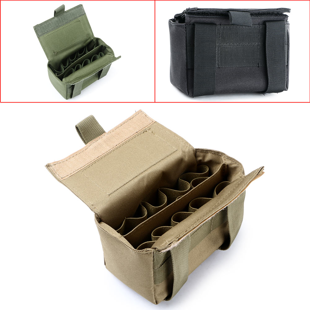 15Round Portable Tactical Shotgun Reload Shotshell Holder Waist Bag Pouch
