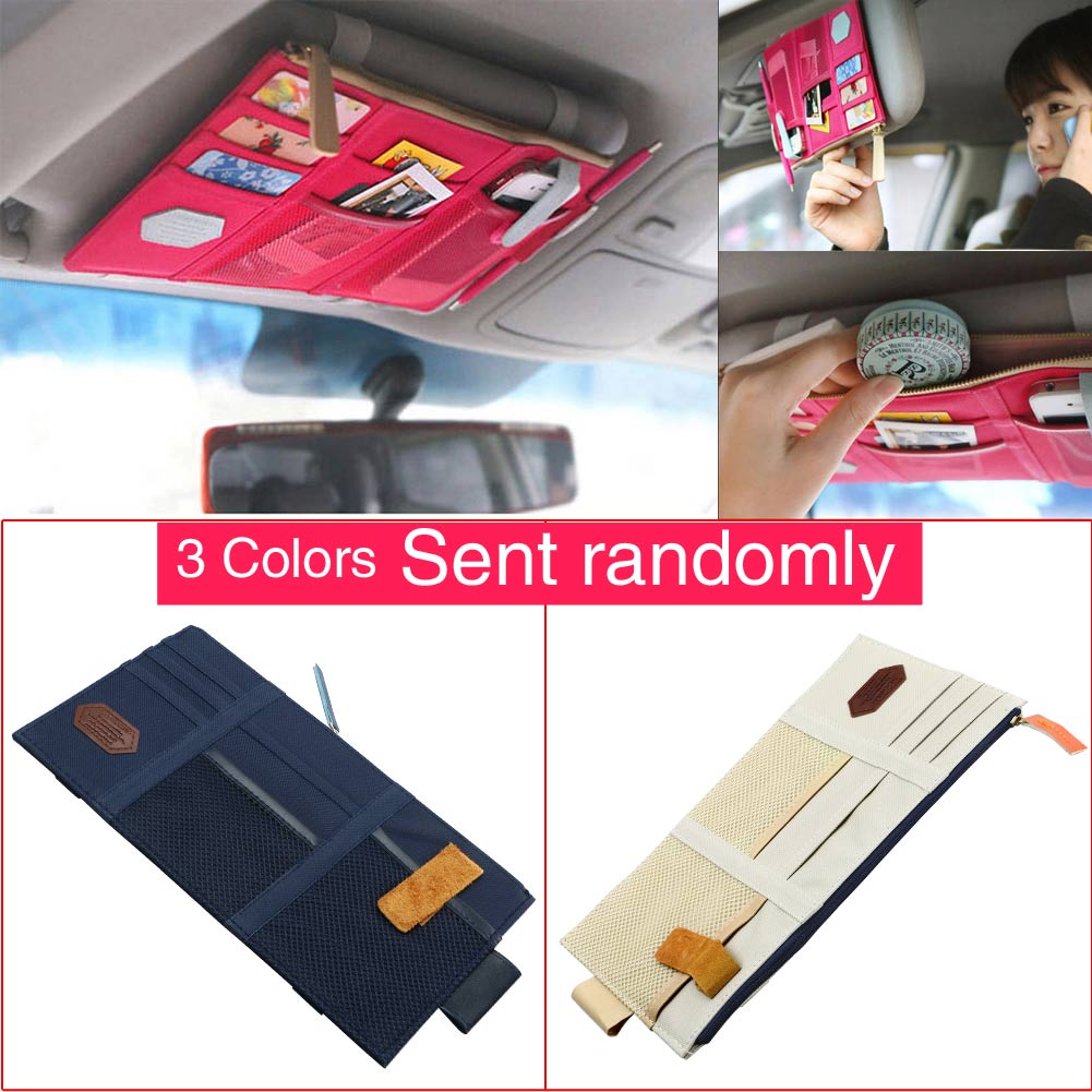 Wholesale Multi-purpose Auto Car Sun Visor Organizer Pouch Bag Card Storage Holder