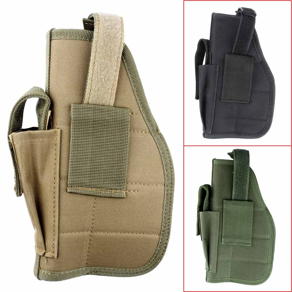 Portable Left/Right Universal Tactical Military Pistol Mag Gun Waist Pouch