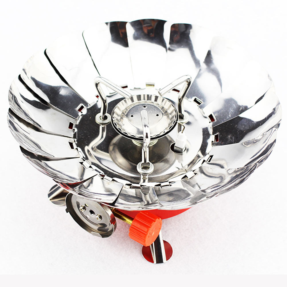 Outdoor Portable Mini Foldable Windproof Camping Lotus Stove Gas Cooker