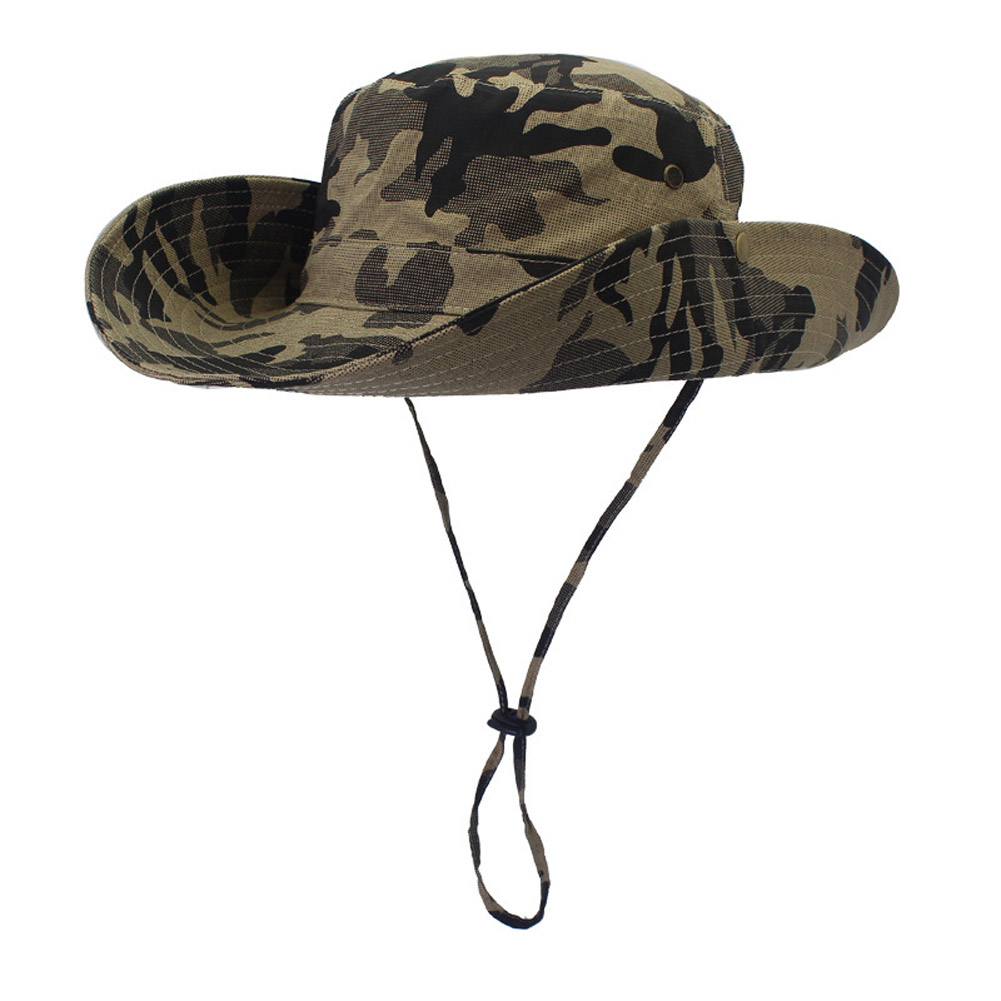 Wide brim mens fishing hat fisherman hat outdoor summer for Fishing sun hat