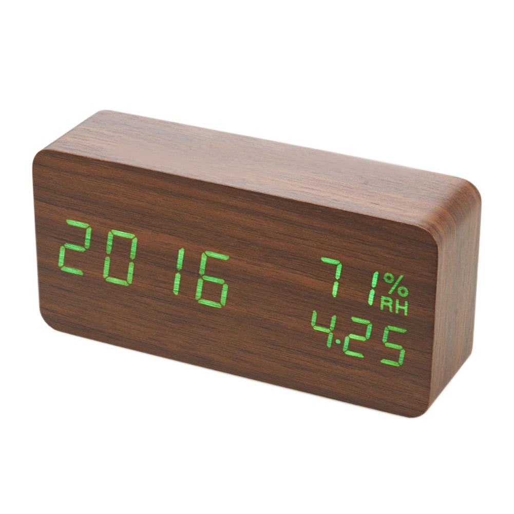 Creative Digital Calendar creative digital led wood alarm clock voice control timer