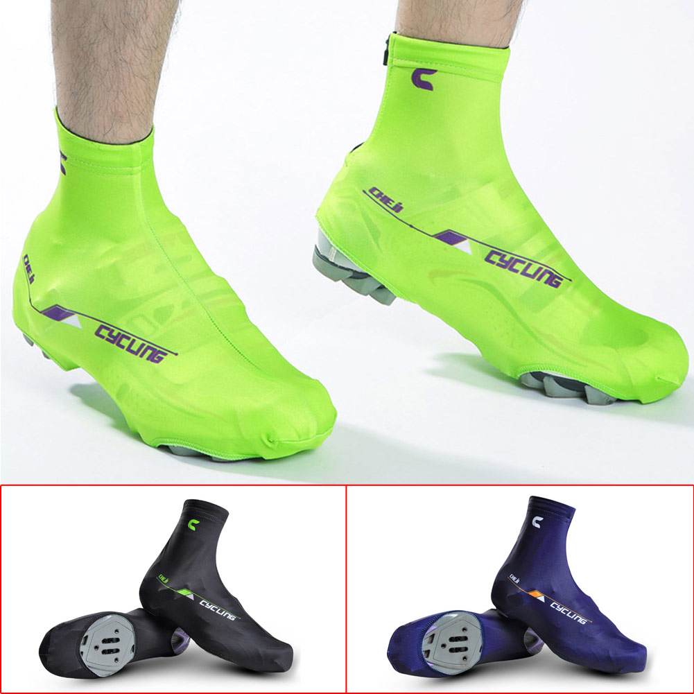 Breathable Windproof Mountain Bike Bicycle Cycling Zippered Shoe Covers
