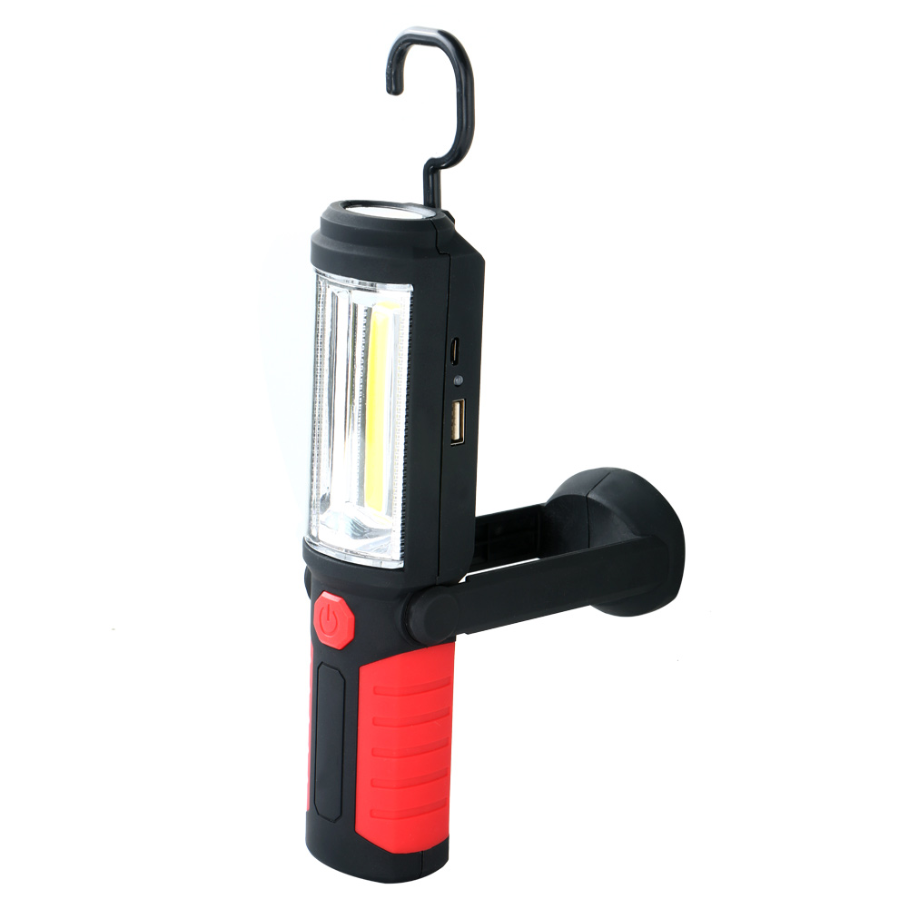 Led Work Light Magnet Lamp Torch Rechargeable Cordless: Portable Magnetic Rechargeable 360°COB LED WorkLight Hand