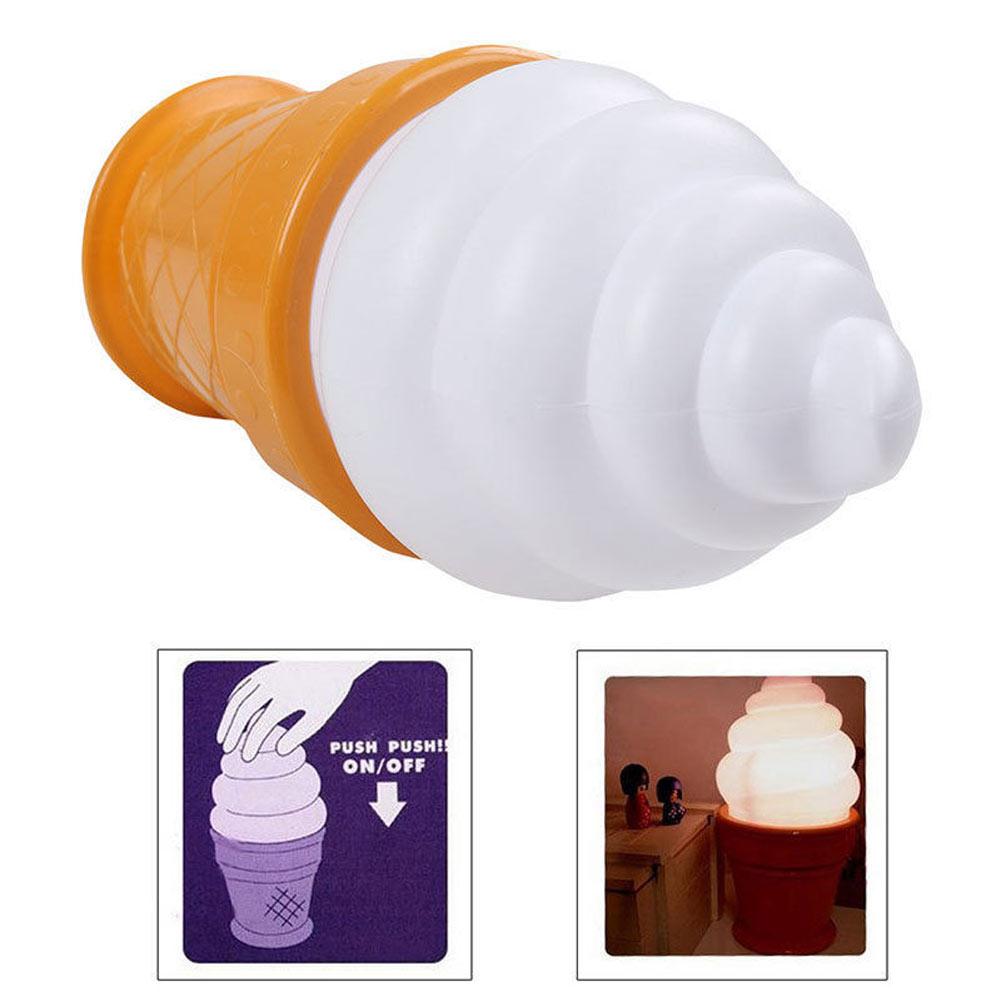 Wireless Touch Ice Cream Cone LED Nightlight Children