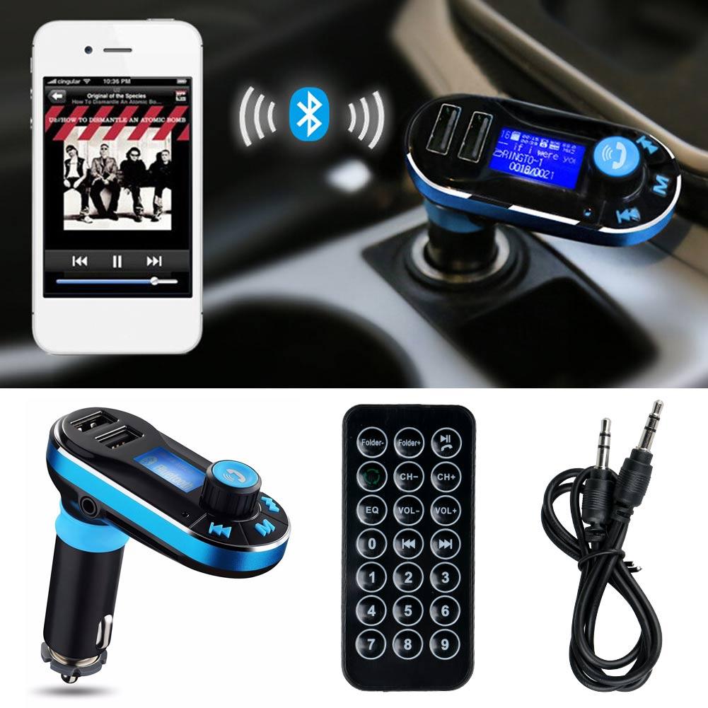 Wireless Handsfree Bluetooth Car FM Transmitter W/Dual USB Charger Adapter
