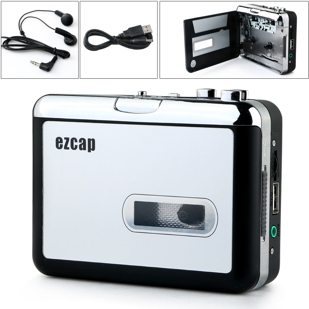 Portable Audio USB Cassette Tape Recorder to MP3 Player Converter Adapter