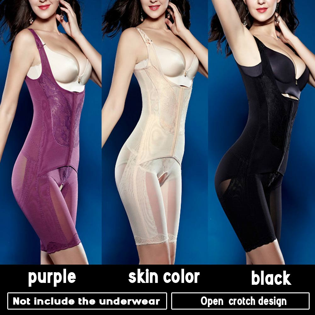 Postpartum Open Bust Slim Lift Tummy ControlThigh Body Shaper Onepiece Suit
