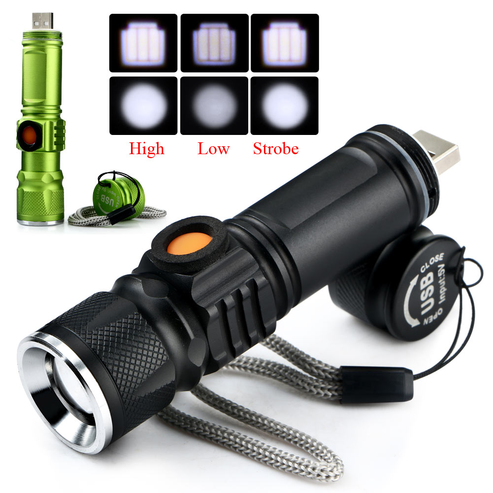 Q5-2000LM-USB-Rechargeable-Portable-Bright-LED-Emergent-Flashlight-Torch