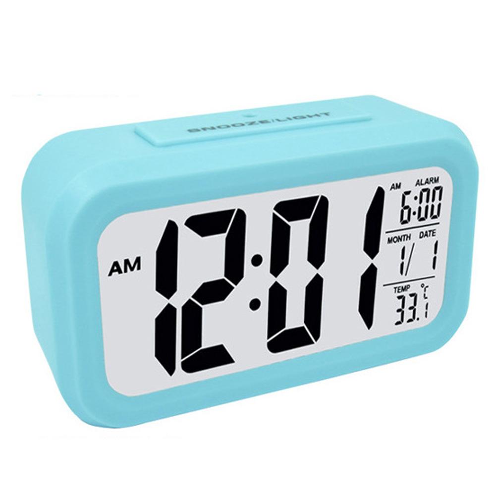 smart large screen led snooze mute low light sensor digital alarm clock calen. Black Bedroom Furniture Sets. Home Design Ideas