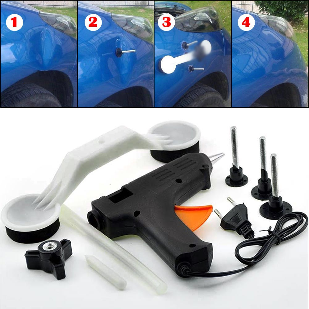 Car Body Paintless Hail Dent Ding Repair Remover Puller Removal Tool Kit EU