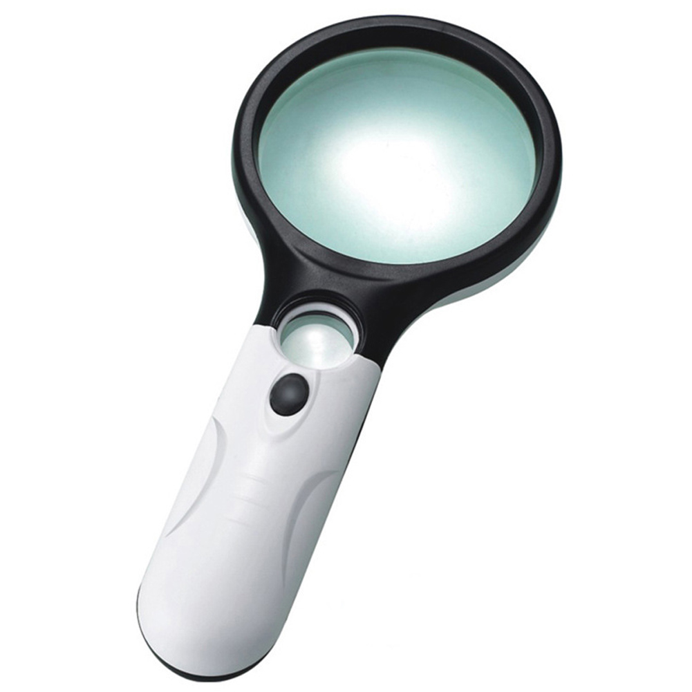 45x handheld 3 led light magnifier reading magnifying. Black Bedroom Furniture Sets. Home Design Ideas