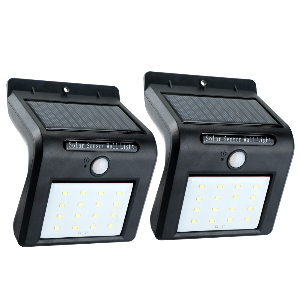 Frostfire Solar Wall Light With Pir Motion Sensor : 2pc Outdoor Waterproof Solar PIR Motion Sensor LED Wall Light Garden Lamp Hot eBay