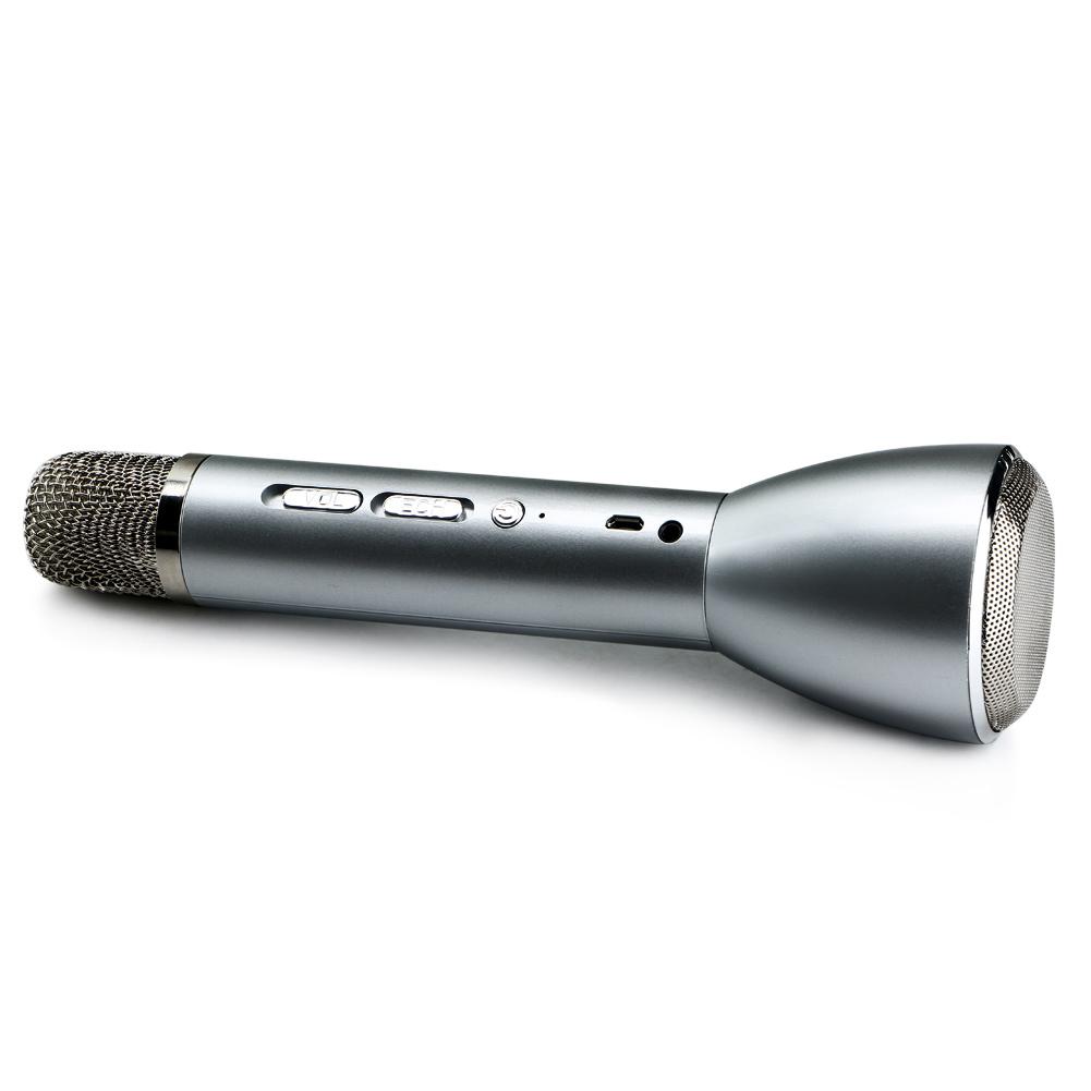 Handheld Wireless Microphone With Bluetooth Speaker : wireless handheld karaoke microphone audio player bluetooth speaker silver new ebay ~ Russianpoet.info Haus und Dekorationen