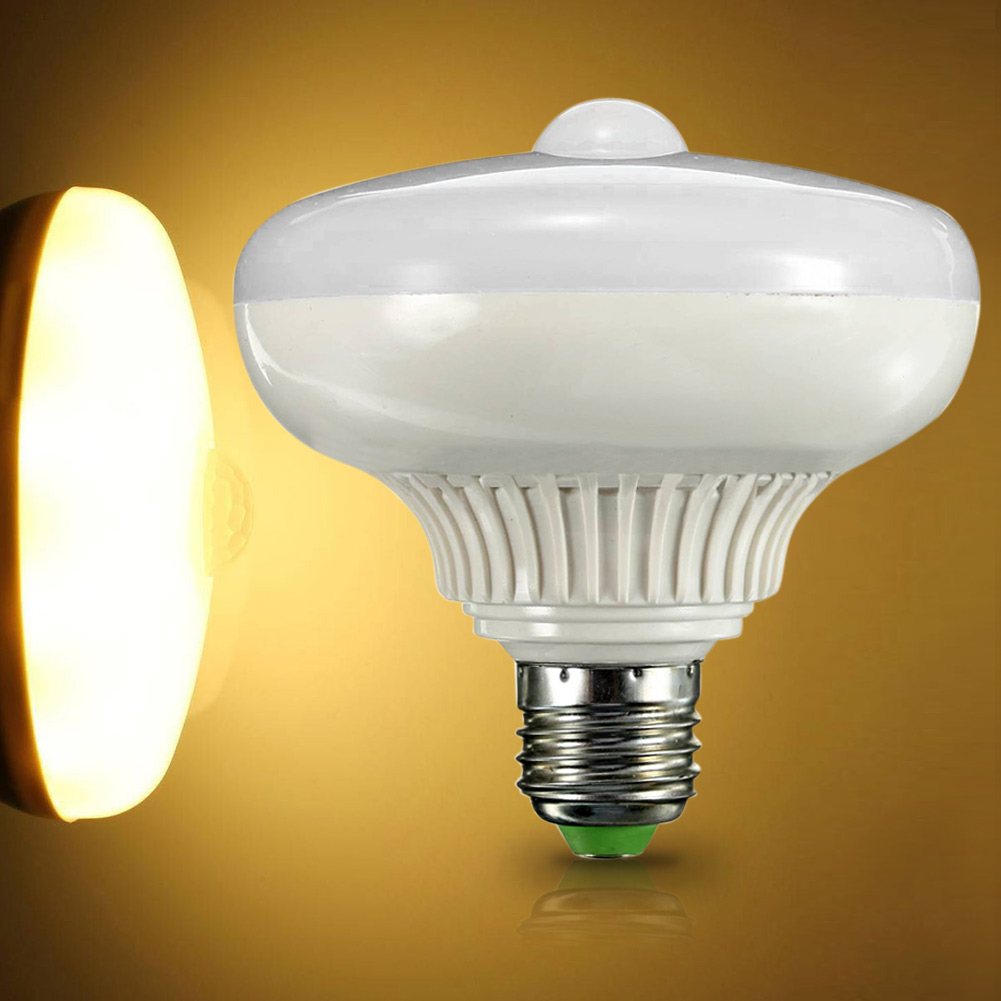 e27 12w led pir motion sensor auto energy saving light lamp globe bulb ebay. Black Bedroom Furniture Sets. Home Design Ideas