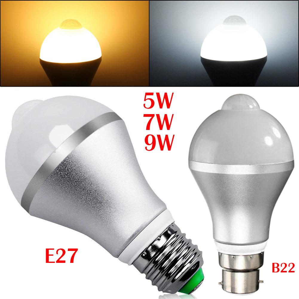 Smart Auto On/Off PIR Motion Sensor LED Nightlight Light Lamp Globe Bulb