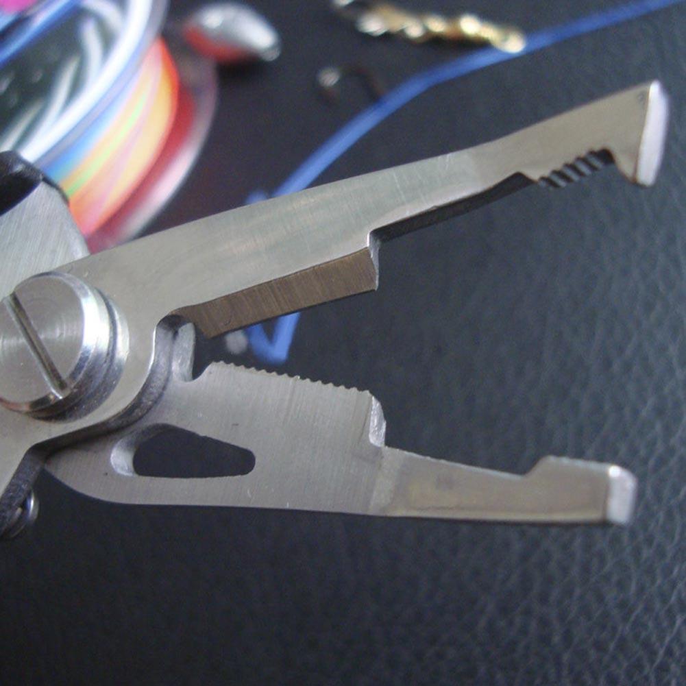 Fishing Pliers Scissors Line Cutter Hook Stainless Steel Outdoor Tool