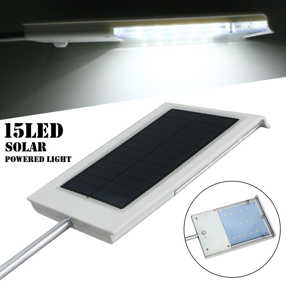 15Led Solar Powered Auto Light Control Induction Light Garden Yard Lamp