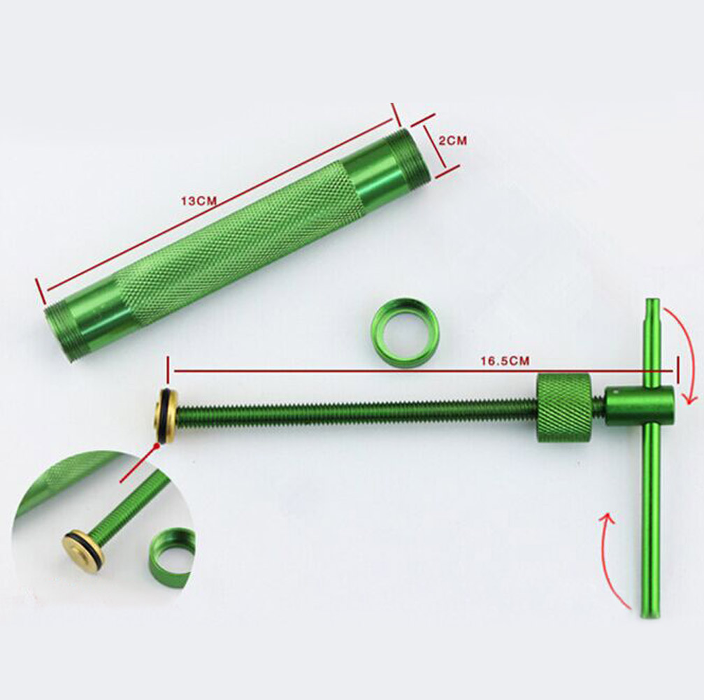 Green Clay Extruder Polymer Craft Gun Cake Sugarcraft Kit Tool W/20Discs
