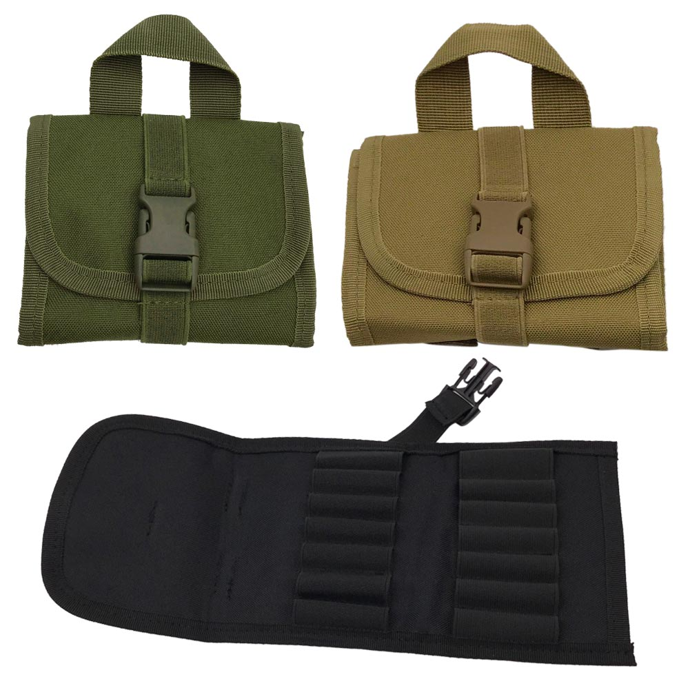14Round Tactical Hunting Rifle Buttstock Shell Belt Carrier Pouch Holder