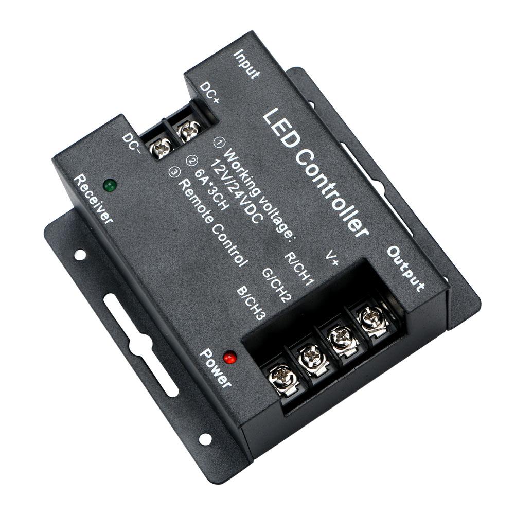 touch dimmer remote controller dc12v 24v 18a rf wireless for rgb led strip light 656006866043 ebay. Black Bedroom Furniture Sets. Home Design Ideas