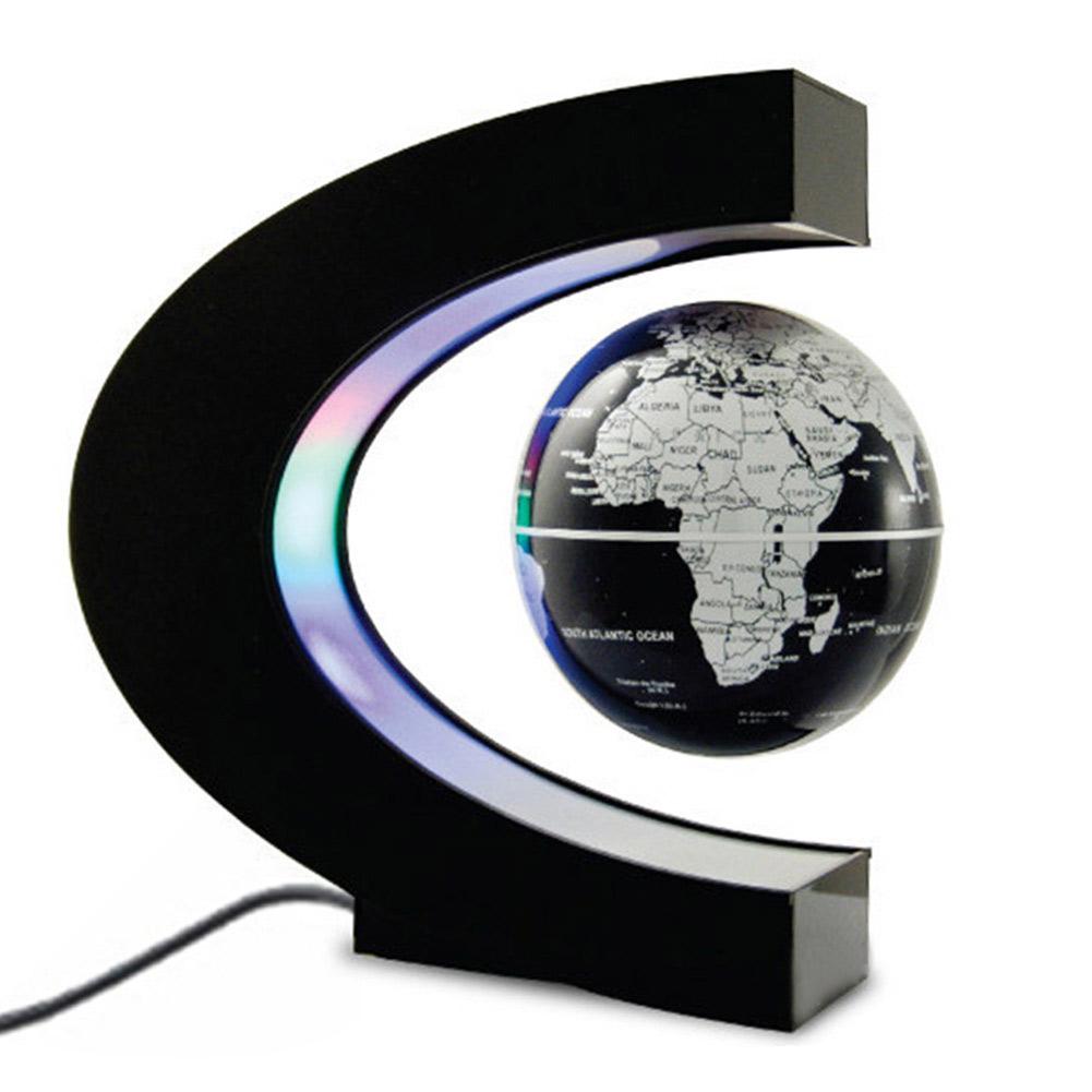 C shape magnetic levitation floating globe rotating world map wled image is loading c shape magnetic levitation floating globe rotating world gumiabroncs Images