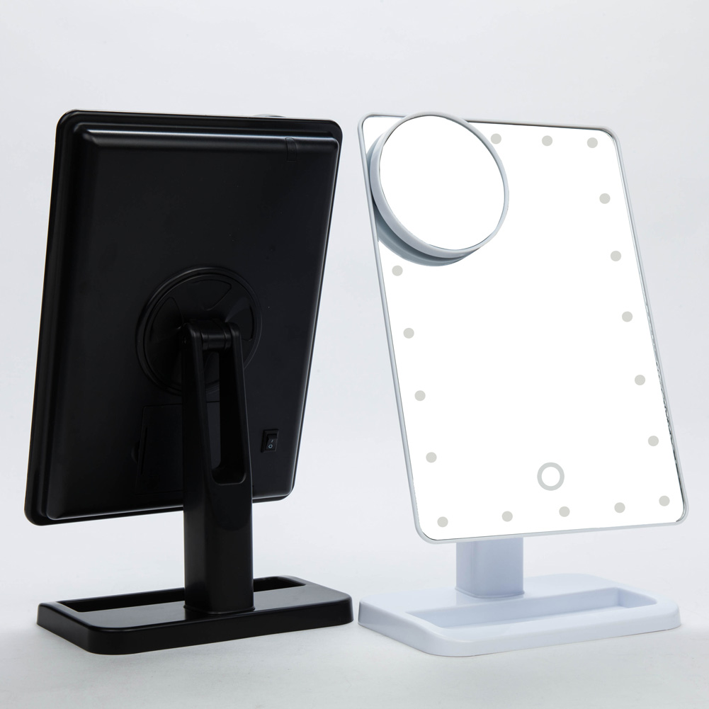 20 Led Touch Screen Makeup Mirror Tabletop Lighted