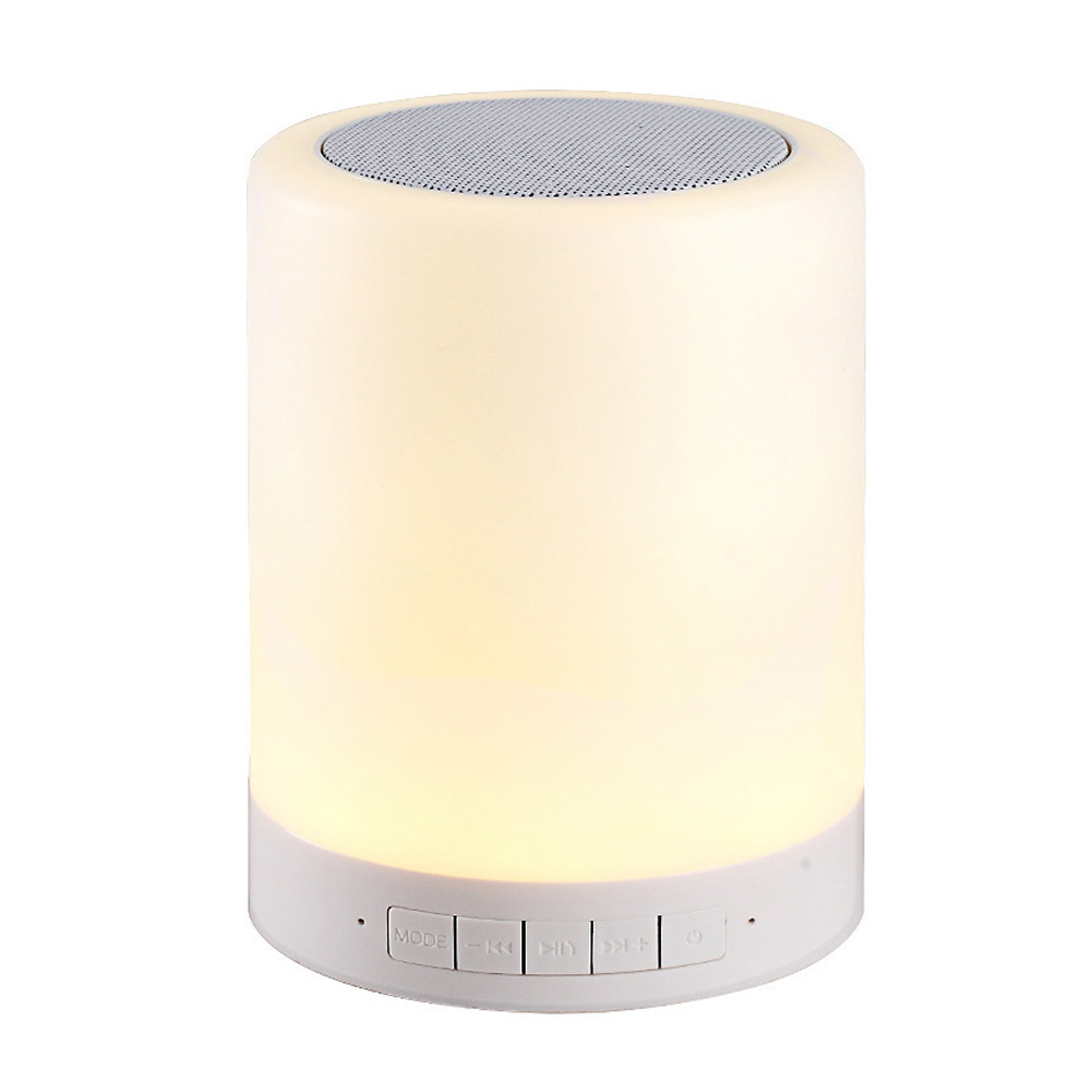 Night Light Bluetooth Speaker Mini Portable Wireless Touch Control LED Lamp