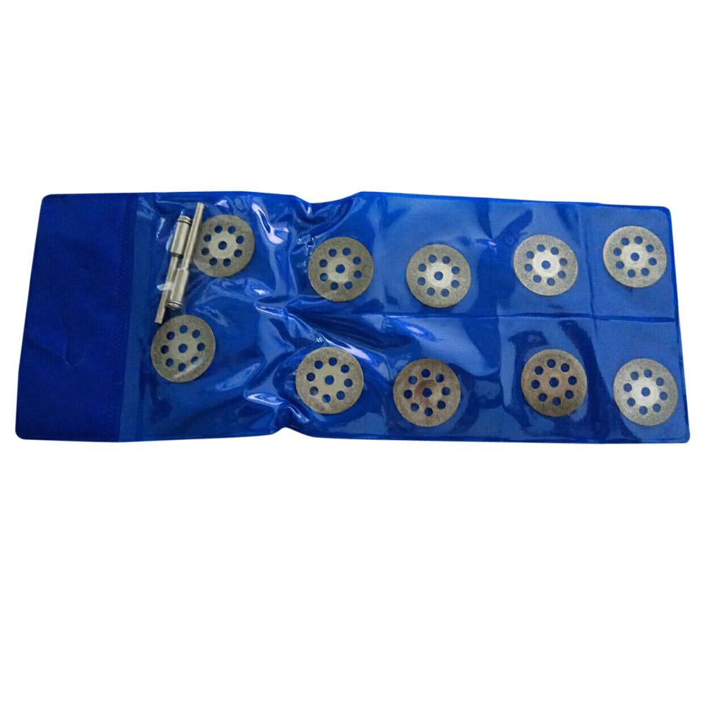 10pc 22mm Diamond Coated Rotary Cutting Cut Off SawBlade WheelDisc Kit Tool