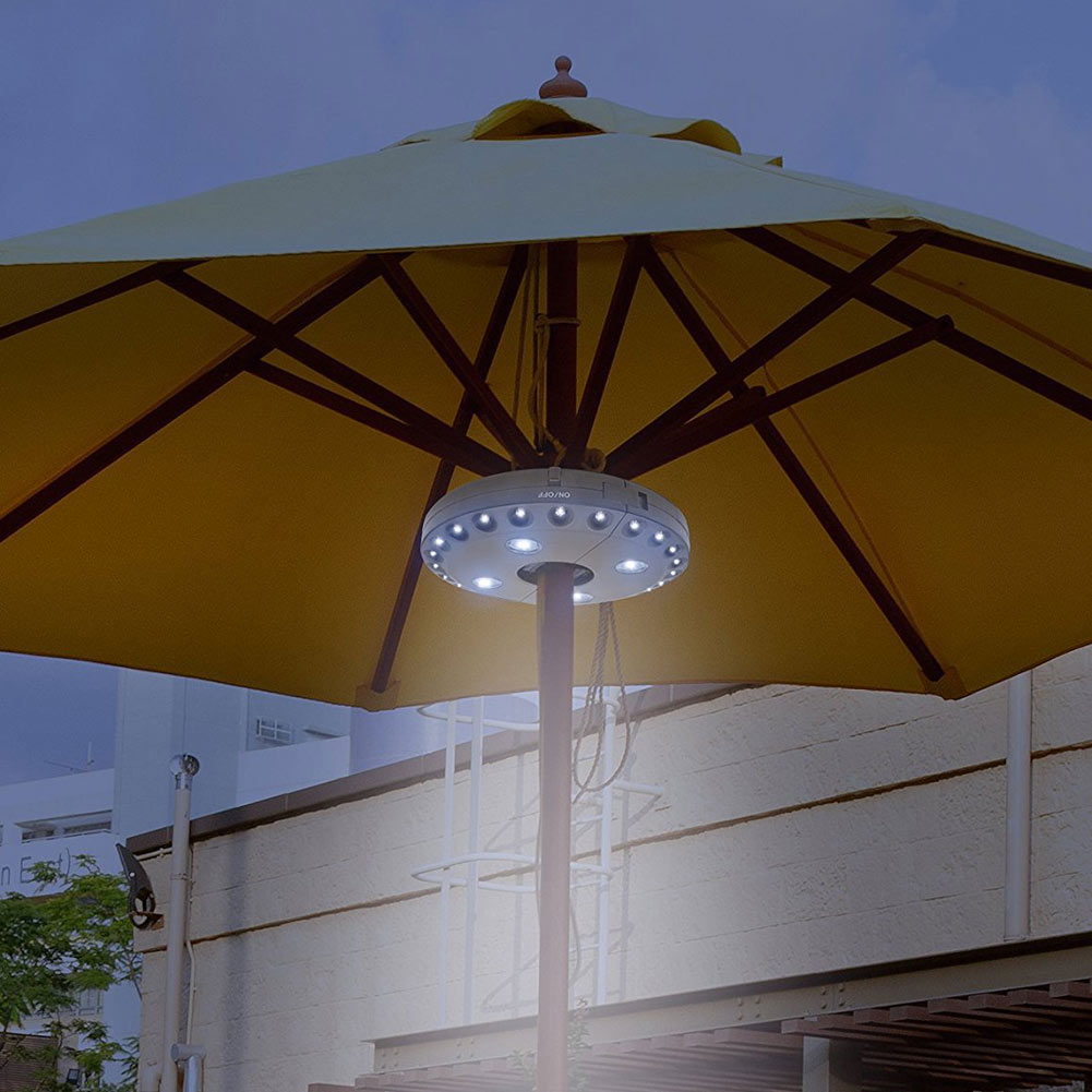 Patio Umbrella Pole Light 28 LED Outdoor Garden Yard Lawn Night ...